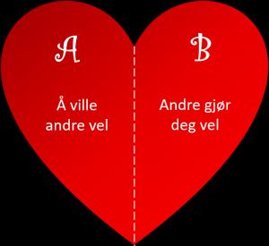 Hva er kjærlighet? A: Å ville andre vel. B: Andre gjør deg vel.